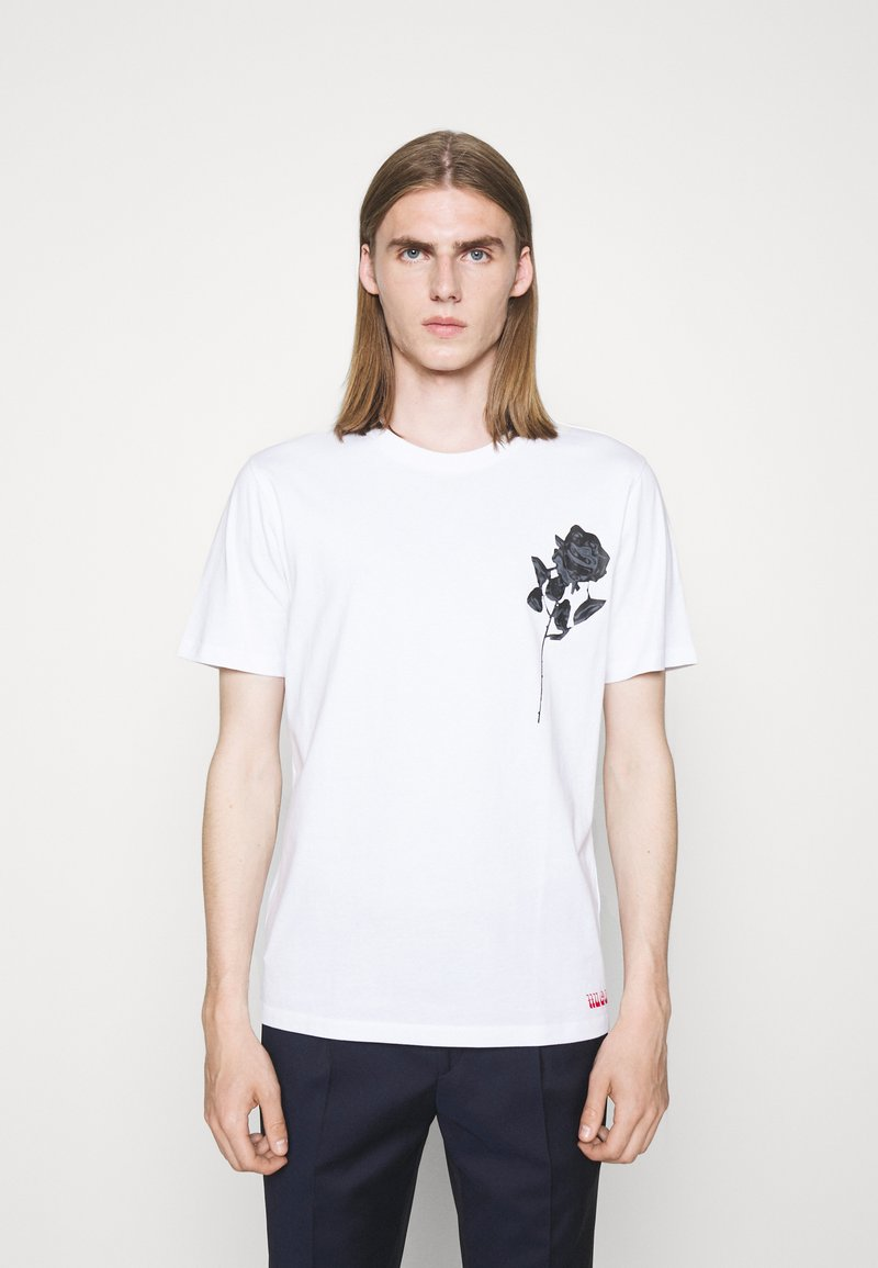 HUGO - DRINCE - Print T-shirt - white