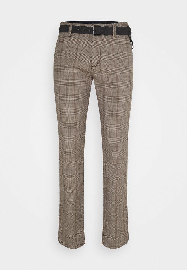 STRUCTURED - Chino kalhoty - brown/ochre