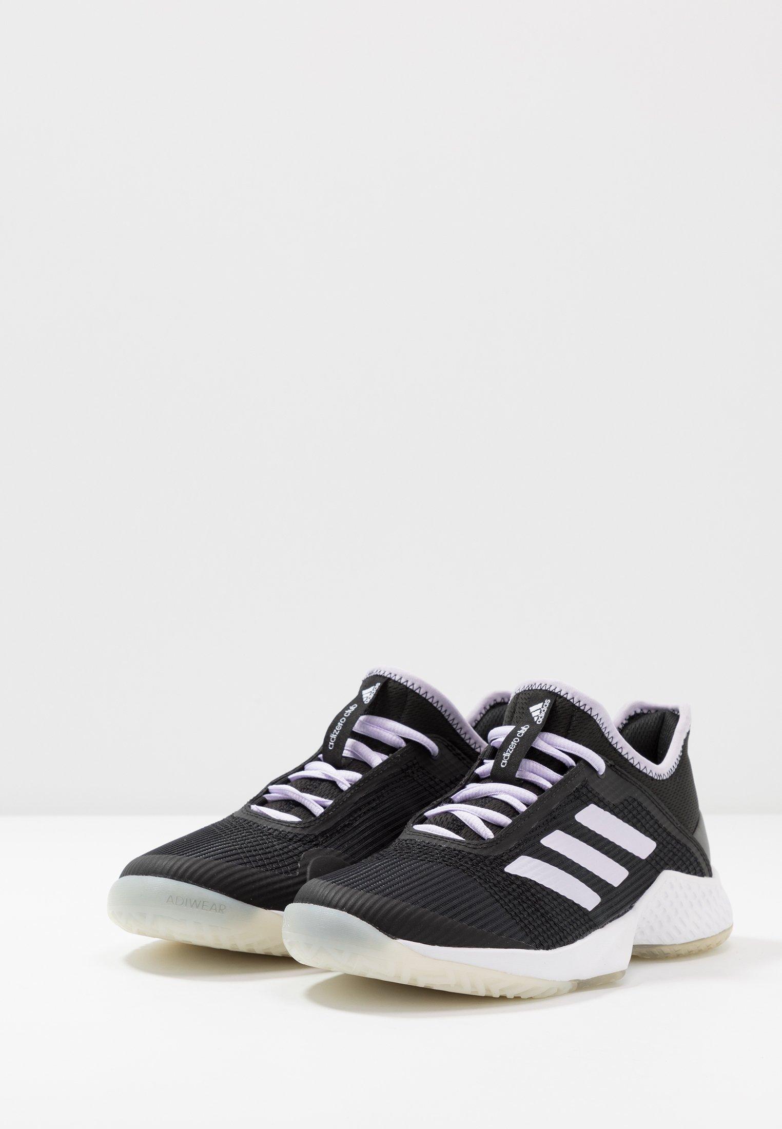 adidas Performance ADIZERO CLUB - Chaussures de tennis toutes surfaces - core black/prurple tint/footwear white - Chaussures de sport femme Classique