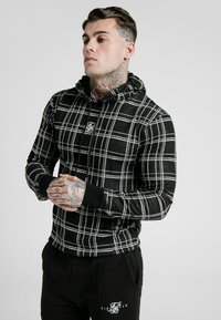 SIKSILK - SMART OVERHEAD HOODIE - Jersey con capucha - black/white - 0