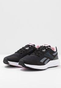 Reebok - RUNNER 4.0 - Zapatillas de running neutras - black/cloud grey/pix pink - 2