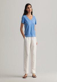 GANT - SUNFADED - Print T-shirt - pacific blue - 1