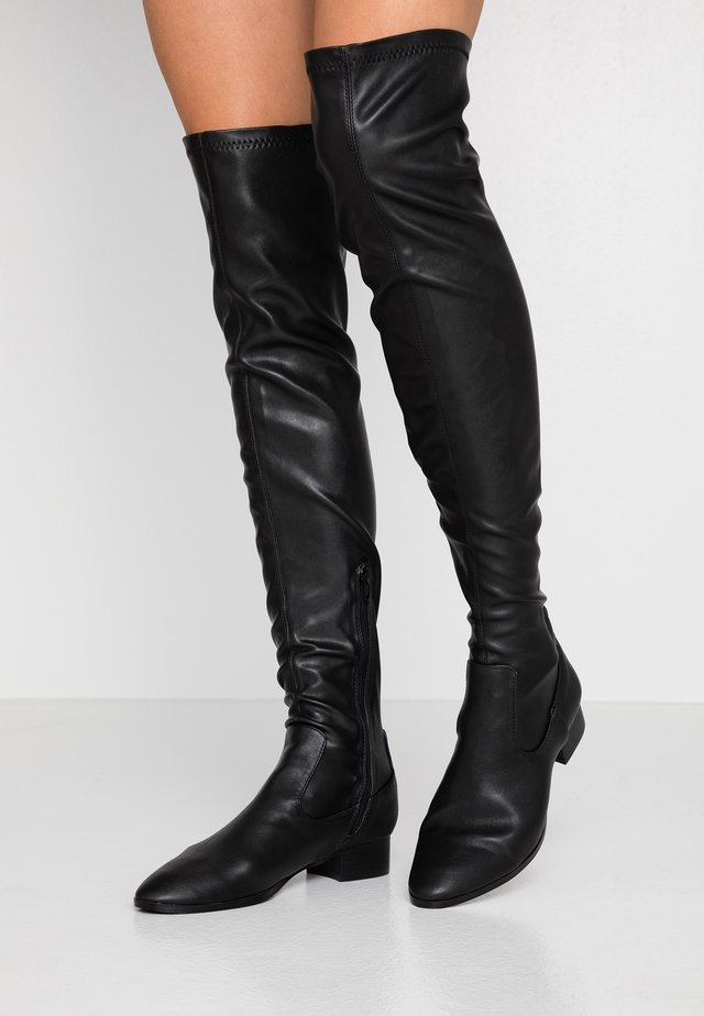 VERONICA FLAT BOOT - Over-the-knee boots - black