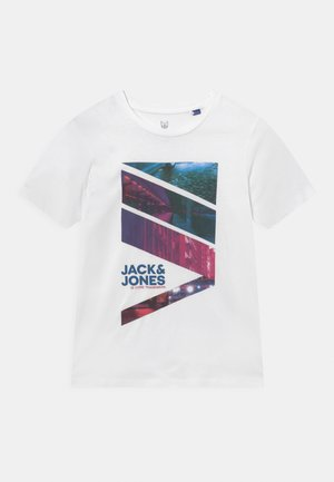 JJURBAN CITY TEE CREW NECK - T-shirt z nadrukiem - white
