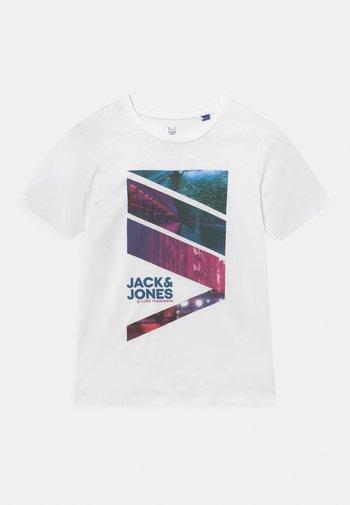 JJURBAN CITY TEE CREW NECK - T-shirt med print - white