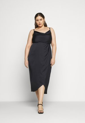HOLLY COWL NECK MIDI DRESS - Cocktailkjoler / festkjoler - navy