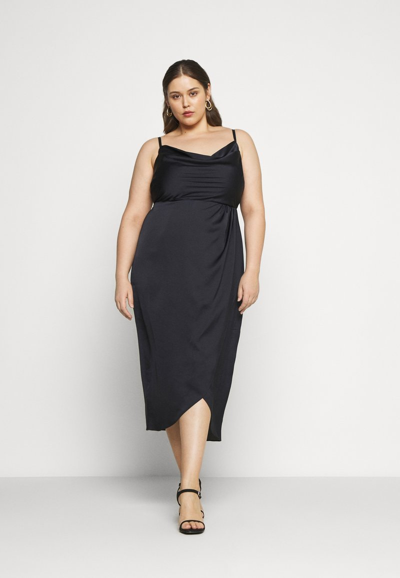 Forever New Curve - HOLLY COWL NECK MIDI DRESS - Cocktail dress / Party dress - navy