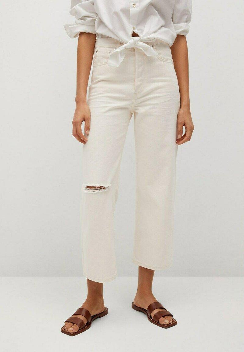 Mango - GABRIELA - Straight leg jeans - ecru