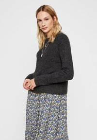 Pieces - PCELLEN - Pullover - dark grey melange - 0
