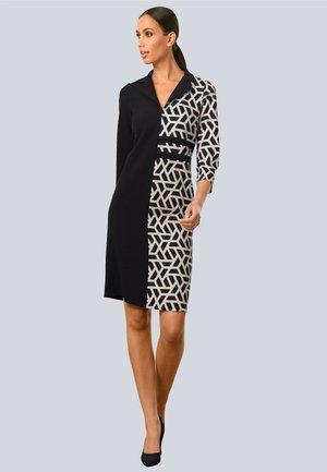Jersey dress - schwarz,weiß
