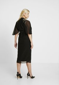Hope & Ivy Maternity - BEADED WRAP KIMONO DRESS - Day dress - black - 3