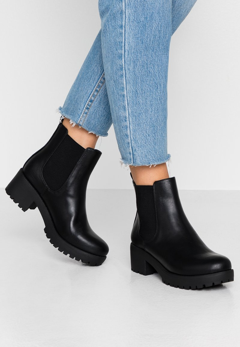 Rubi Shoes by Cotton On - KENNEDY GUSSET BOOT - Platform ankle boots - black