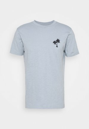 ALDER SLUB TEE - Print T-shirt - asley blue