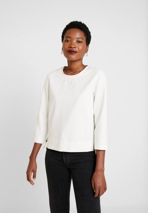 CREW NECK SLEEVE - Long sleeved top - natural white