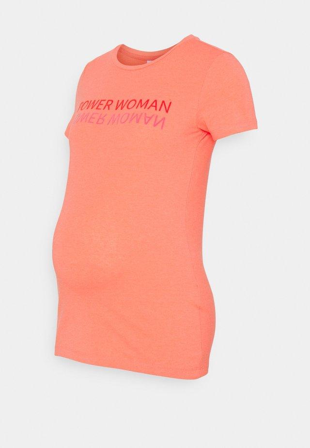 MLMIA - T-shirt print - sugar coral melange