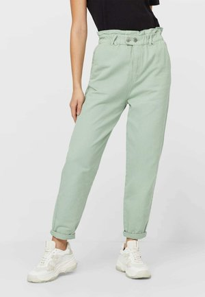TWILL-BAGGY - Trousers - light green