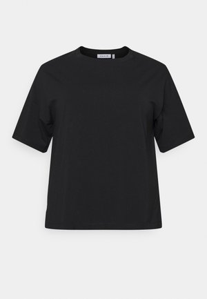 DROP SHOULDER - Basic T-shirt - black