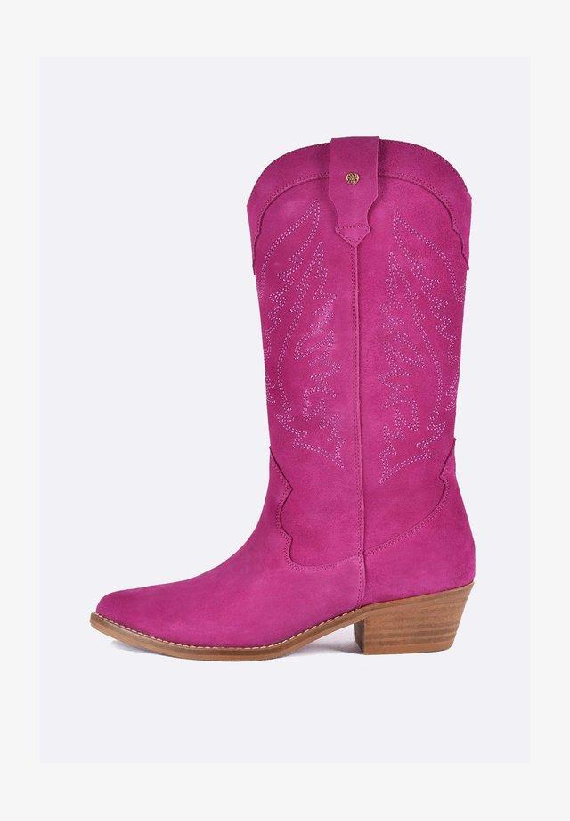 Kowbojki i obuwie motocyklowe - pink