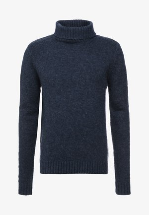 HELIOT BRUSHED TURTLENECK - Strikpullover /Striktrøjer - dark navy