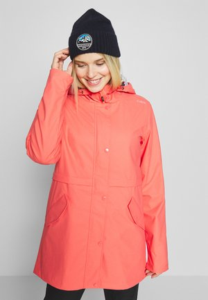 RAIN JACKET FIX HOOD - Regnjakke - peach