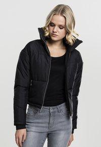 Urban Classics - LADIES OVERSIZED HIGH NECK JACKET - Light jacket - black - 0