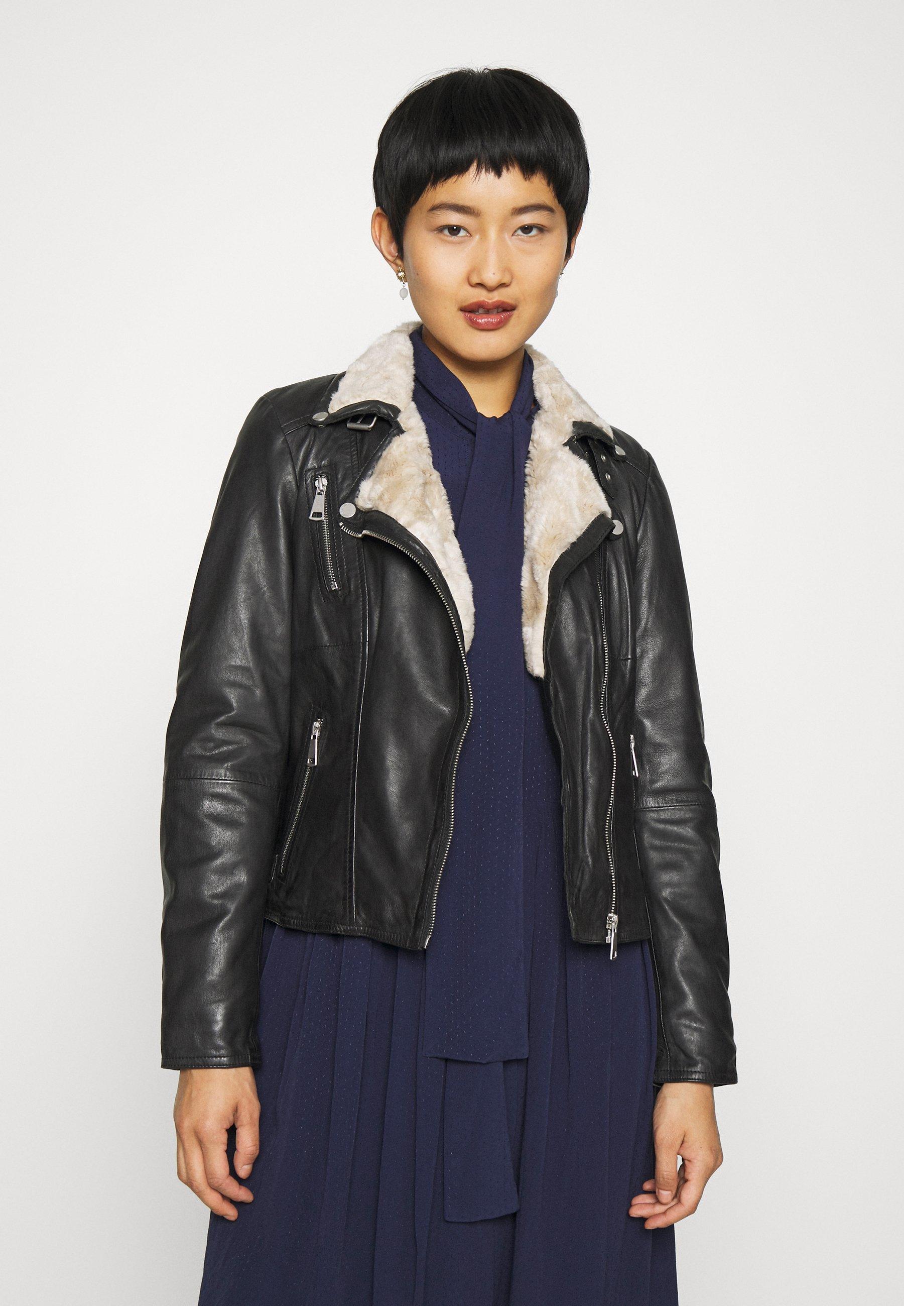 Women WINTER BIKER PRINCESS - Leather jacket