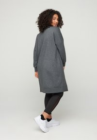 Active by Zizzi - WITH ROUND NECK - Day dress - dark grey - 2