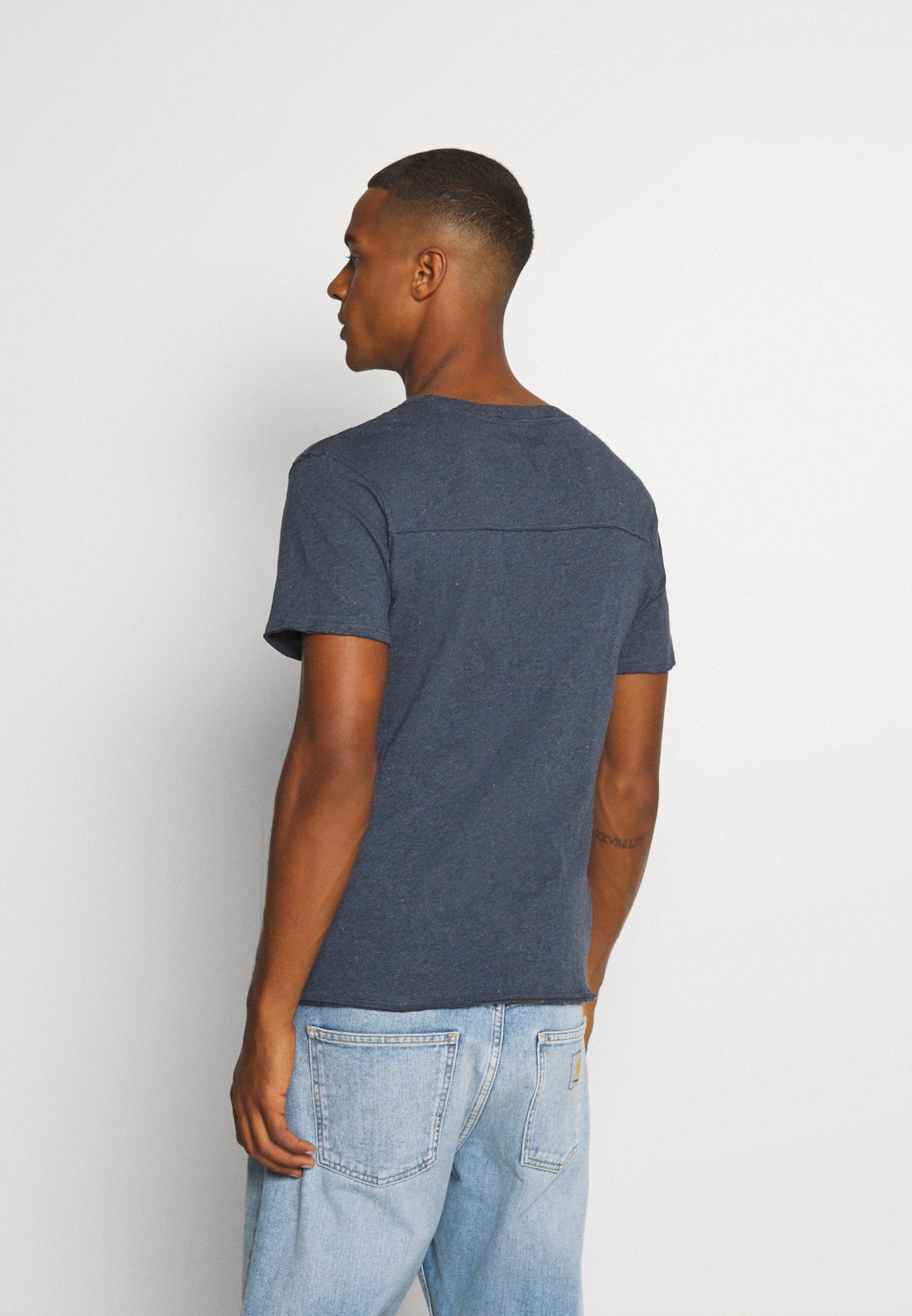 Jack & Jones PREMIUM JPRFRANK - Basic T-shirt - denim blue LNL35
