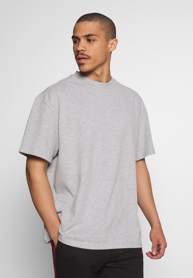 Weekday - GREAT  - Basic T-shirt - grey melange