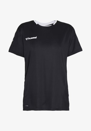 HMLAUTHENTIC  - T-shirt med print - black/white