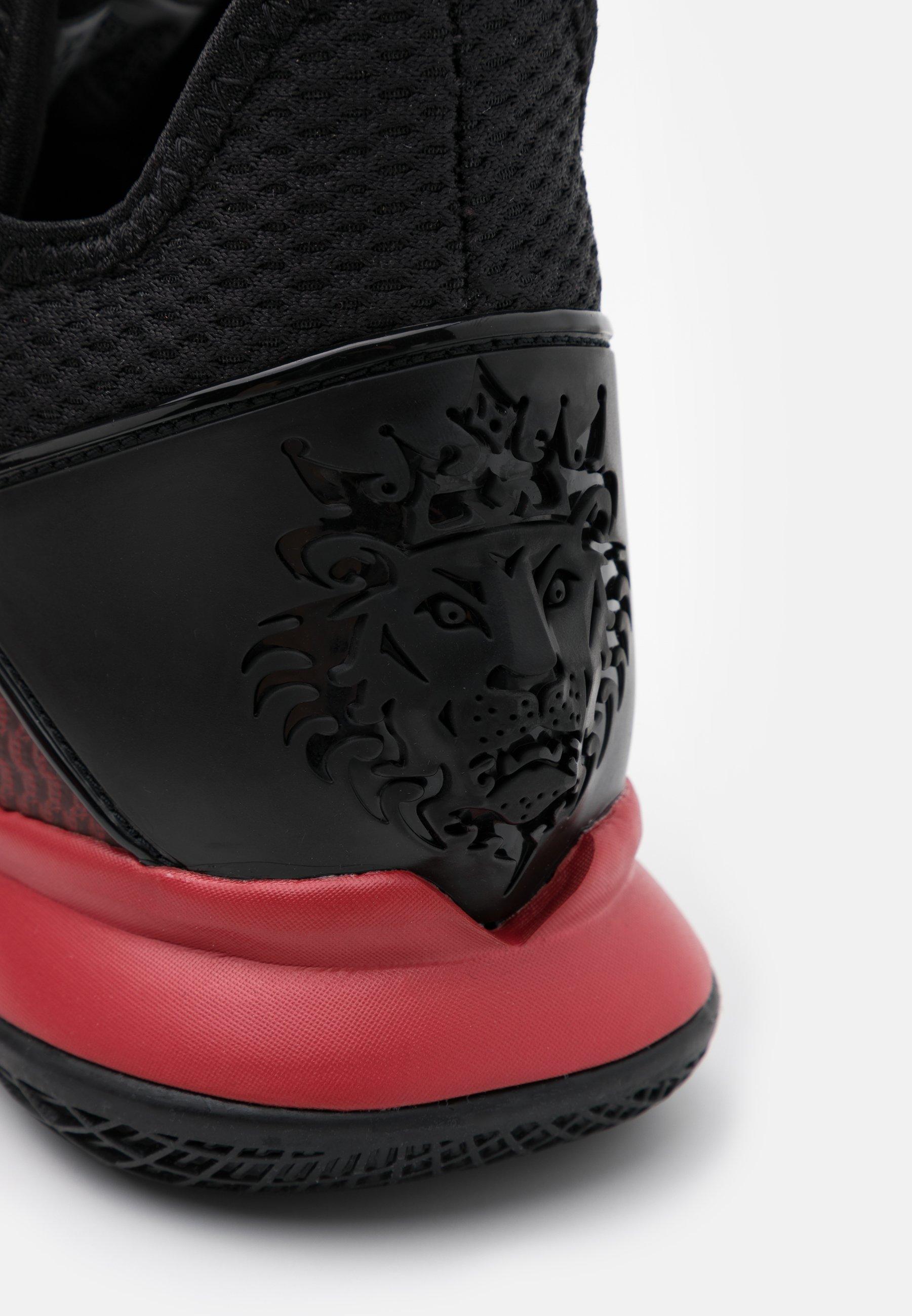 Nike Performance LEBRON WITNESS IV - Basketballsko - black/gym red/university red