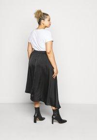 Vero Moda Curve - VMBLYSS CALF SKIRT - A-line skirt - black - 2