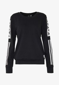 adidas Performance - BLOCK CREW - Sweater - black