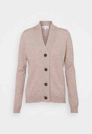 V-NECK BUTTONS CARDIGAN - Cardigan - sand