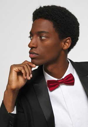 SOLID RIBBED BOWTIE - Bow tie - red