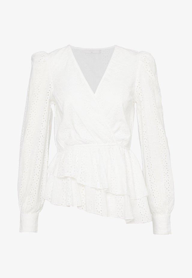 CROCHET WRAP - Bluse - white