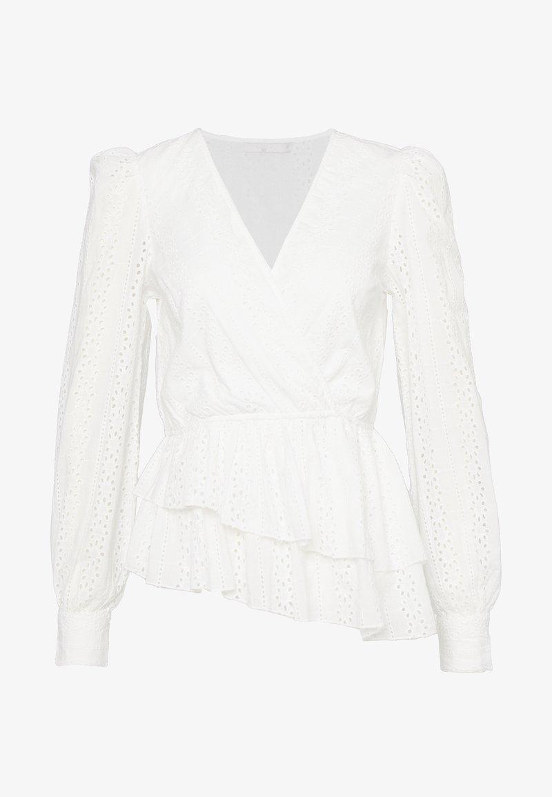 NA-KD - CROCHET WRAP - Blouse - white