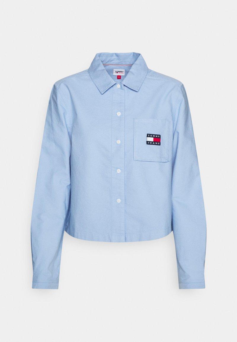 Tommy Jeans - REGULAR BADGE SHIRT - Košile - moderate blue