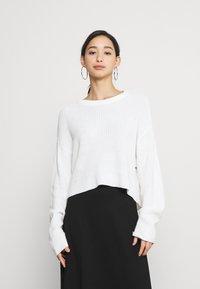 Even&Odd - CROPPED JUMPER - Jersey de punto - white - 0