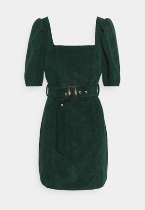 MILKMAID PUFF BELT SKATER DRESS - Shift dress - dark green