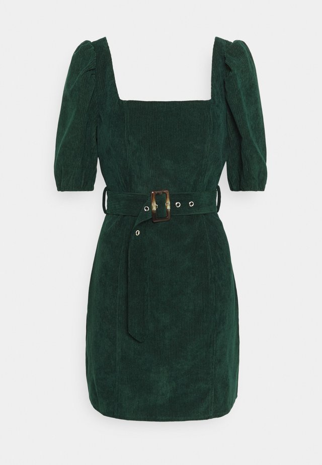 MILKMAID PUFF BELT SKATER DRESS - Sukienka etui - dark green