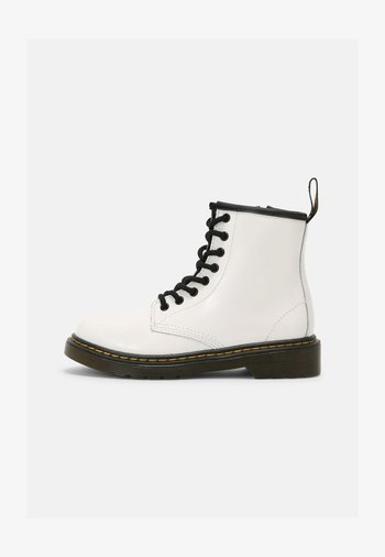 1460 J - Lace-up ankle boots - white patent lamper