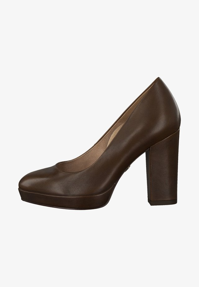 COURT SHOE - Zapatos altos - mocca