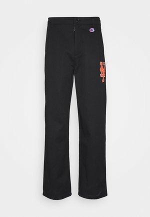 MLB PREMIUM NEW YORK METS STRAIGHT HEM PANTS - Club wear - black
