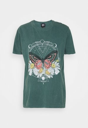 BUTTERFLY TEE - Print T-shirt - green