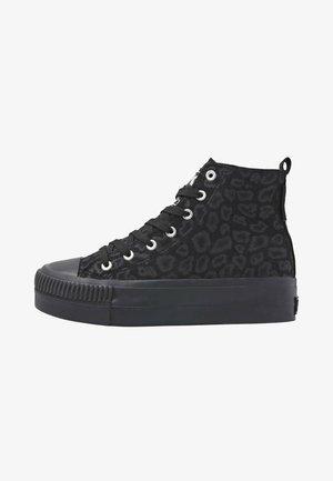 Sneakers hoog - black leopard/black