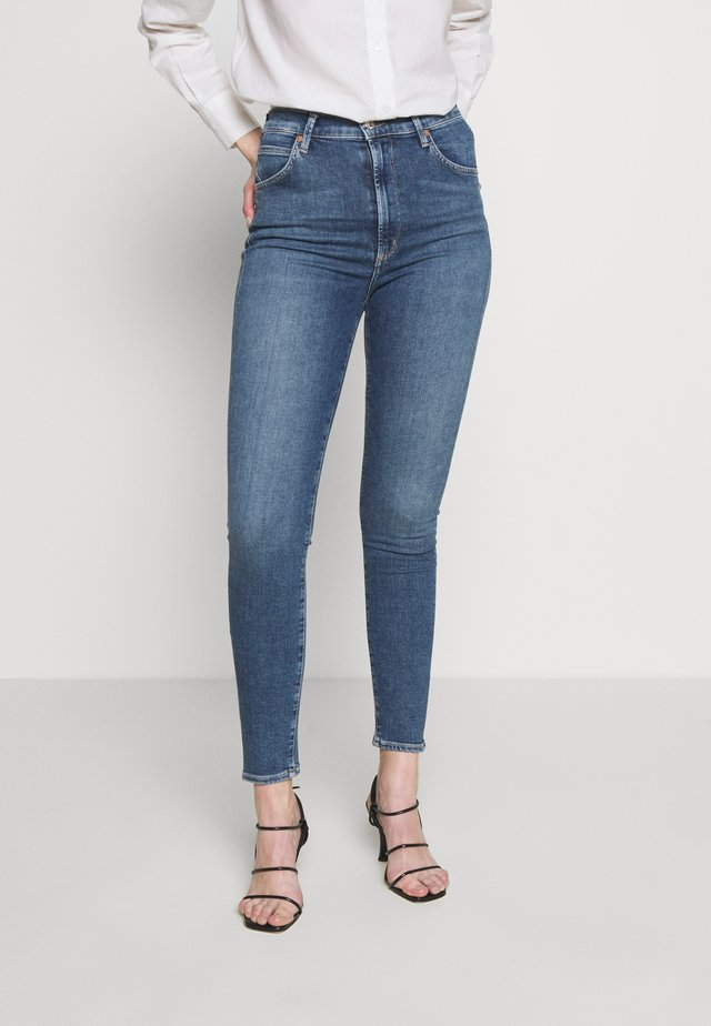 CHRISSY HIGH RISE - Jeans Skinny - dark-blue denim