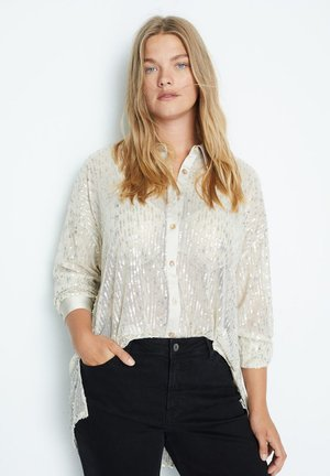 CLUB-I - Button-down blouse - silber