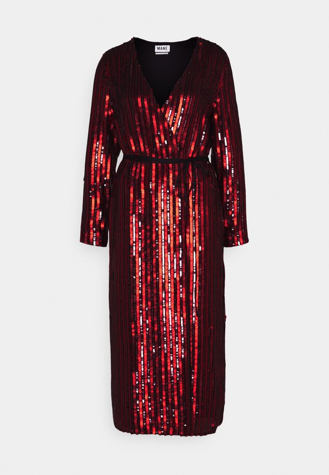 OCASO DRESS - Robe de soirée - black/red