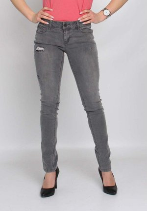 Slim fit jeans - grey denim destroyed